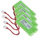 Floureon 4X Phone Battery for Uniden BT-1011 / BT1011, DECT3080 / DECT 3080 SERIES, DCX300 / DCX 300 SERIES Cordless Telephone, Office Central