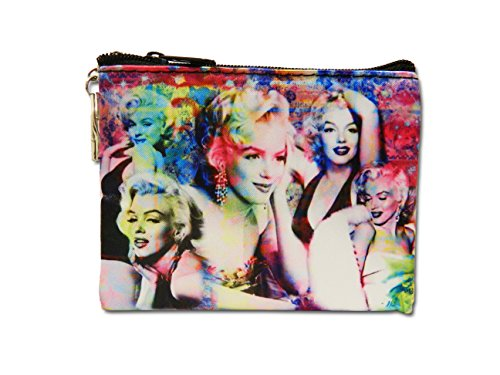 Marilyn Collage Key Chain Coin Purse