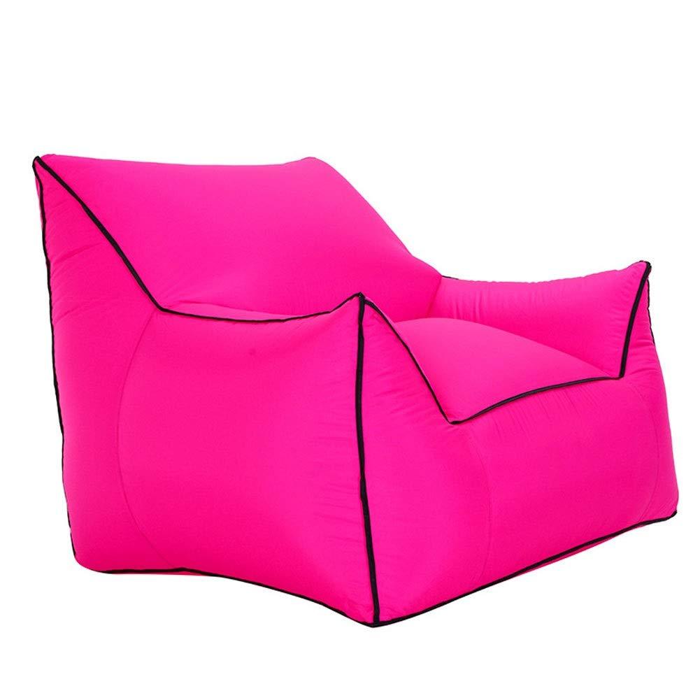 Rose rouge Moderate Plein Air Pliant Gonflable Canapé Chaise Voyage Sac Pique-nique Camping Plage (Couleur   noir, Taille   Moderate)