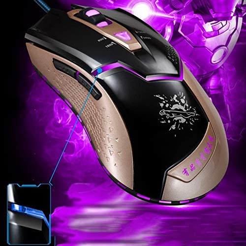 Black Color : Black Computers /& Accessories Mice V15 USB 2400DPI Four-Speed Adjustable Asymmetric Wired Optical Gaming Mouse with LED Breathing Light Length: 1.8m