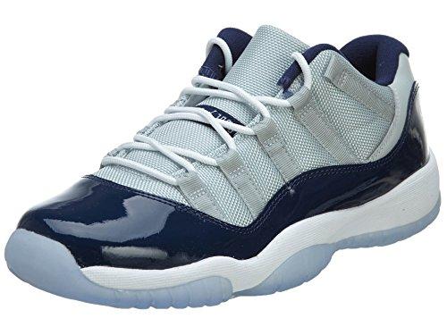 Nike Air Jordan 11 Retro Low Bg, Zapatillas de Baloncesto para Niños Gris / Blanco (Grey Mist / White-Midnight Navy)