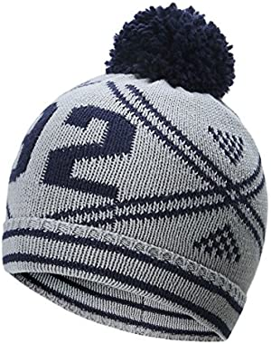 Toddler Baby boy Winter Knitted Cap Kid Winter Hats Cotton 0-6y (12-24m)