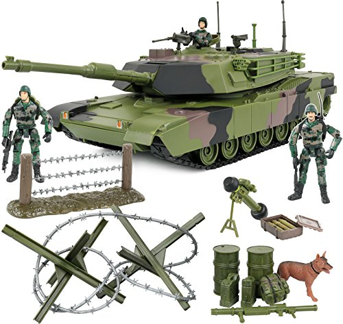 Click N' Play Military Armored Assault Tank 27 Piece Play Set with Accessories.
