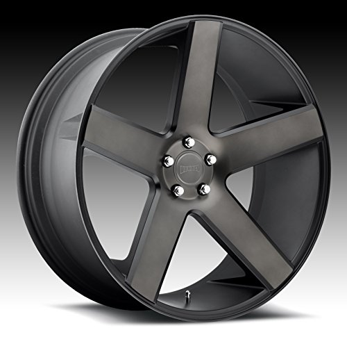 DUB Baller 24 Black Flake Wheel / Rim 6x5.5 with a 31mm Offset and a 78.1 Hub Bore. Partnumber S116240077+31