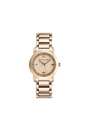 161117d5025b Image Unavailable. Image not available for. Color  Michael Kors Women s  Large Runway MK3159 Rose Gold Stainless-Steel ...