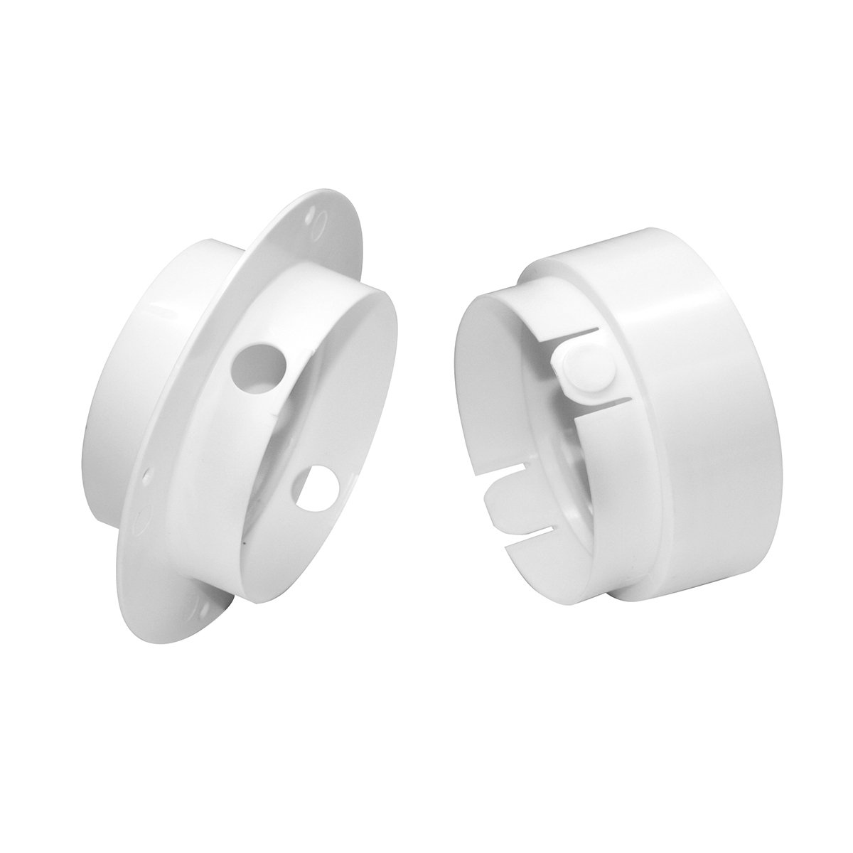 """Dundas Jafine EZCNZW 4"""" Duct to Wall Connector, 4"""", White"""