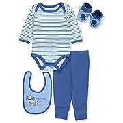 BON BEBE Baby Infant Newborn Bodysuits, Bib and Pants Set, Handsome Like Daddy, 3-6 Months