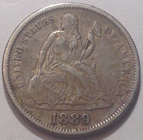 1889 Seated Liberty Dime Very Fine (1889 Liberty Seated Dime)