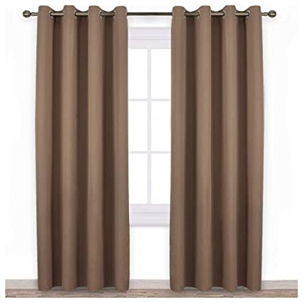 NICETOWN Outdoor Curtain Panel For Patio   Home Decorations Thermal  Insulated Grommet Top Blackout Indoor Outdoor