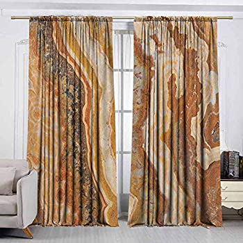 Image of AndyTours Outdoor Patio Curtains,Marble,Waterproof Patio Door Panel,W120x96L Inches Multicolor