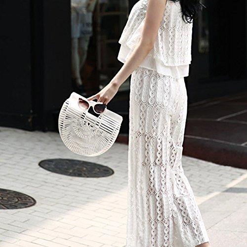 Bolso Multicolor Bag Blanco Mujer Tela Bamboo Talla Única Para Unyu De 1wcROEZq