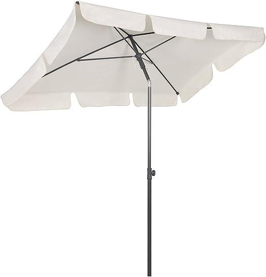 Sekey® Sombrilla 200 x 125cm Parasole para Terraza Jardín Playa Balcón Piscina Patio ,Protector Solar UV50+ , Color Crema , Rectángulo: Amazon.es: Jardín