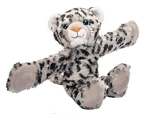 Wild Republic Huggers, Snow Leopard Plush Toy, Slap Bracelet, Stuffed Animal, Kids Toys, 8 inches