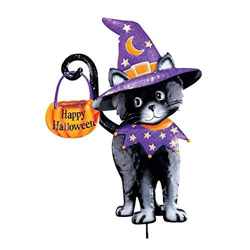 Halloween Witch Black Cat Garden (Black Cat Halloween Pumpkin)
