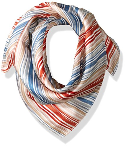Shelli Segal Stripe - LAUNDRY BY SHELLI SEGAL Women's Watercolor Stripe Silk Square Scarf, Poppy, One Size
