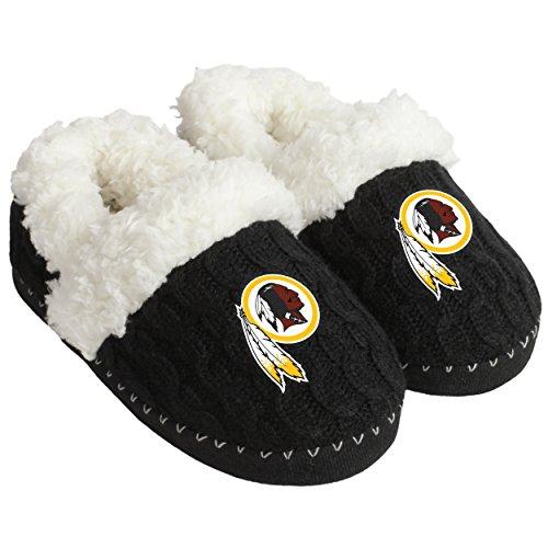 FOCO NFL Washington Redskins Team Color Fur Moccasin Slippers Shoe, Team Color, Medium (7-8) - Washington Redskins Nfl Team