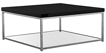 Beautiful Malone Coffee Table In Black And Chrome