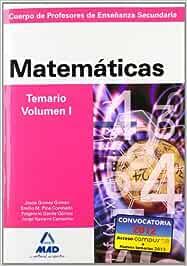 Cuerpo de profesores de enseñanza secundaria. Matemáticas