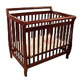 Athena Mini Amy Baby Wood Crib (Cherry)
