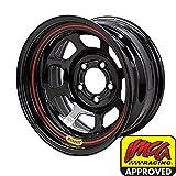 Bassett Wheels 58DF4I Black IMCA D-Hole Wheel Size: 15'' x 8''