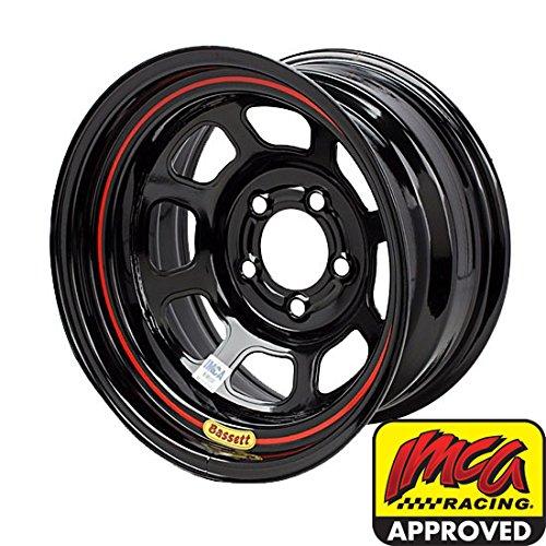 Bassett Wheels 58DF4I Black IMCA D-Hole Wheel Size: 15'' x 8'' by Bassett Wheels (Image #1)