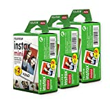 Fujifilm Instax Mini Film, Multi-Pack White (3 x 20pk, 60 shots total)