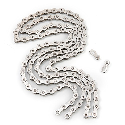 ZHIQIU FSC 9 Speed 116L Bicycle Chain, Silver,Gold (1/2x11/128-Inch) Compatible with 8 Speed (Silver)