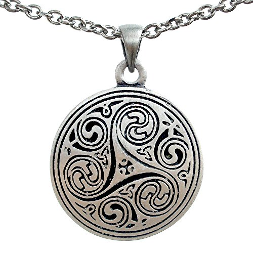Merlin Morgana Trinity Triskele Triquetra Triskelion Pagan Celtic Pewter Pendant