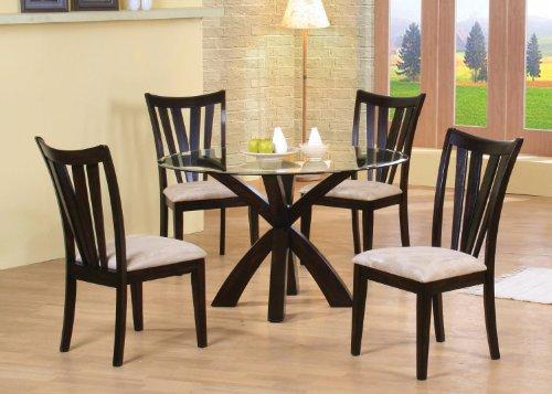 Shoemaker Vertical Slat Side Chairs Deep Merlot and Cream (Set of 2)
