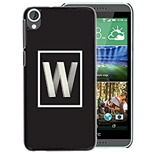 A-type Arte & diseño plástico duro Fundas Cover Cubre Hard Case Cover para HTC Desire 820 (W Internet Letter Initial Poster Grey)