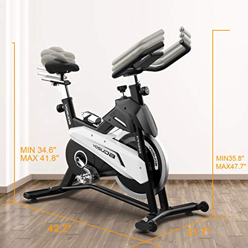 YOSUDA Indoor Exercise Bike Stationary - Cycling Bike with Belt Drive and 43 Lbs Flywheel (L-007) (Black) by YOSUDA (Image #6)