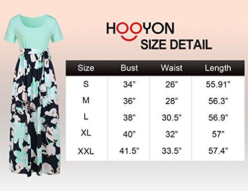 Casual 1 Floral Purple Tunic Printed Maxi HOOYON Dress Women's Long Dress wPxzYqxv