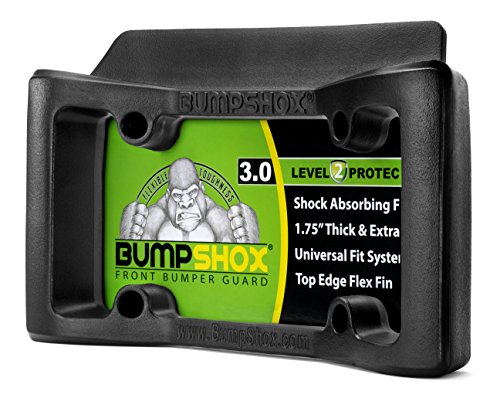 Shock Plate (BumpShox 3.0 - Front Car Bumper Protection, Ultimate Front Bumper Guard. Front Bumper Protection License Plate Frame. Tougher Than Steel !)