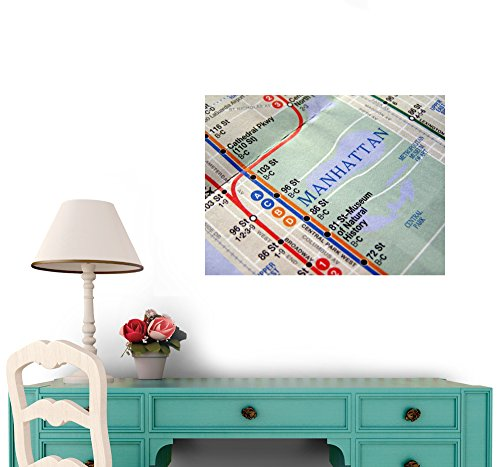 Amazon new york subway map wall mural by wallmonkeys peel and amazon new york subway map wall mural by wallmonkeys peel and stick graphic 18 in w x 14 in h wm239507 home kitchen sciox Images