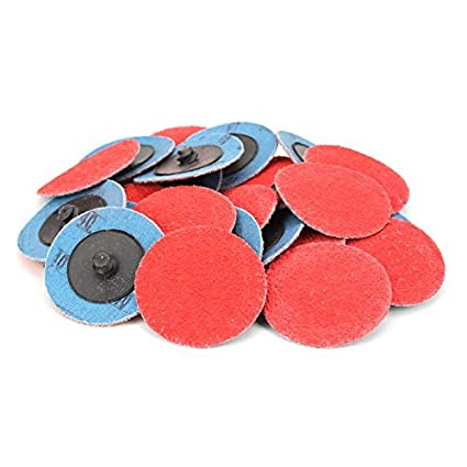 2 Premium Ceramic Quick Change Sanding Discs Type R Male 36 Grit /… Roll On 25 Pack