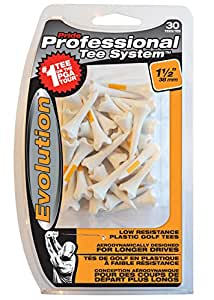 Pride Professional Tee System Evolution Plastic Golf Tees (Pack of 30), 1 1/2-Inch