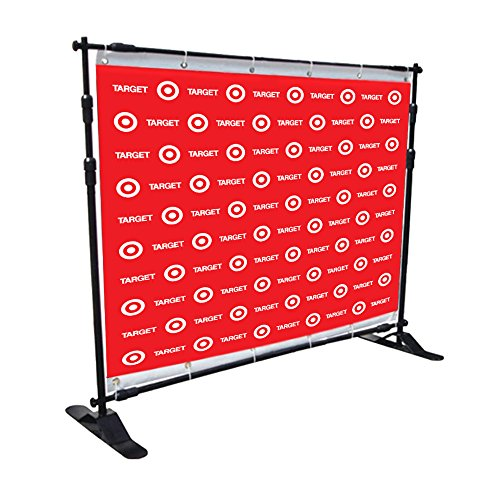 Custom Vinyl 8ft X 8ft Step and Repeat UV Full Color Banners for Any Event, Same day Shipping, Effective Advertising with Custom Step and Repeat Backdrops (8ftX8ft-Step and Repeat(Grommets))