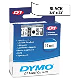 DYMOamp;reg; - D1 Standard Tape Cartridge for Dymo Label Makers, 3/4in x 23ft, Black on White - Sold As 1 Each - Durable, scratch- and chemical-resistant.
