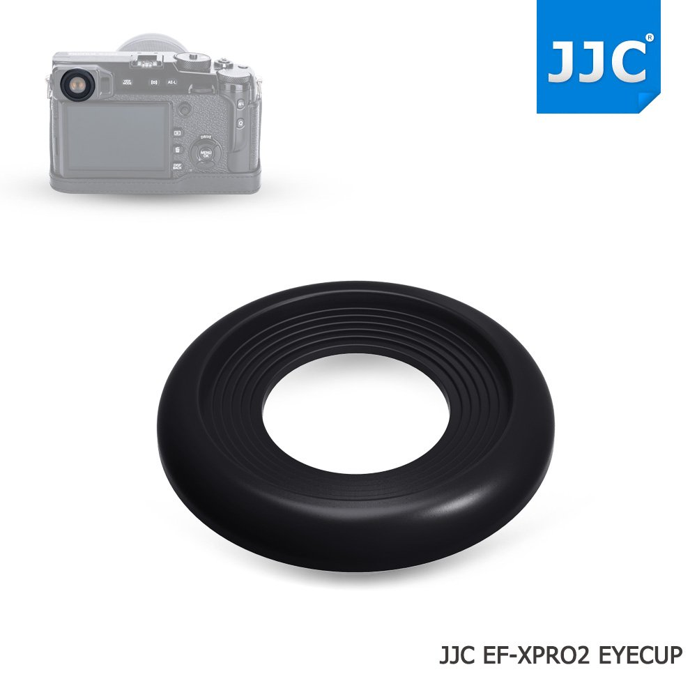 JJC 2Pcs Soft Silicone Rubber Eyecup Eyepiece Viewfinder for Fujifilm X-Pro2 XPro2 Digital Camera
