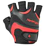 Harbinger Men's FlexFit Weightlifting Gloves with Flexible Cushioned Leather Palm (Pair), Small