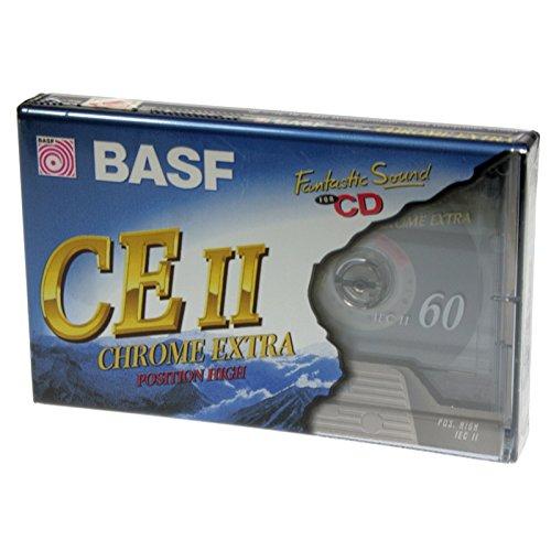 Chrome Extra Pack 10 Cintas de casete audio BASF CE-II 60 Minutos