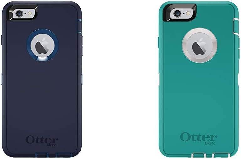 OtterBox Defender iPhone 6 Plus/6s Plus Case - Indigo Harbor (Royal Blue/Admiral Blue) & Defender iPhone 6/6s Case - Seacrest (Whisper White/Light Teal)