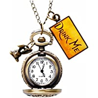 Classic Pocket Watch - AKStore - Rabbit Style Delicate Vintage Drink Me Pocket Watch With Chain