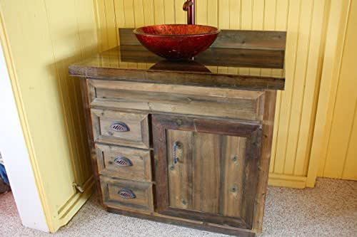 36 Inch Cedar Barnwood Bathroom Vanity