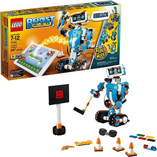 LEGO Boost Creative Toolbox 17101 Fun Robot Building Set and Educational Coding Kit for Kids, Award-Winning STEM Learning Toy (847 Pieces) (Cool Things To Play On Electric Guitar)