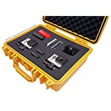 IBEX Cases - Yellow Watertight GoPro Hero and Accessories Hard Rugged Case with Customizable Foam (IC-1300YL)