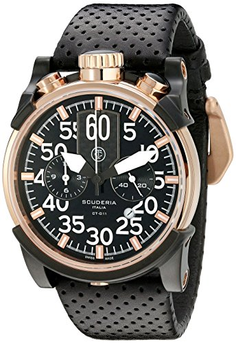 CT-Scuderia-Mens-CS10102-Touring-Analog-Display-Swiss-Quartz-Black-Watch