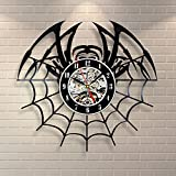 Spider Decor Vinyl Record Clock Home Room Art Insect Design