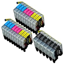 24 Pack Compatible Brother LC-71 , LC-75 6 Black, 6 Cyan, 6 Magenta, 6 Yellow for use with Brother MFC-J280W, MFC-J425W, MFC-J430W, MFC-J435W, MFC-J5910DW, MFC-J625DW, MFC-J6510DW, MFC-J6710DW, MFC-J6910DW, MFC-J825DW, MFC-J835DW. Ink Cartridges for inkjet printers. LC-71BK , LC-71C , LC-71M , LC-71Y , LC-75BK , LC-75C , LC-75M , LC-75Y © Zulu Inks