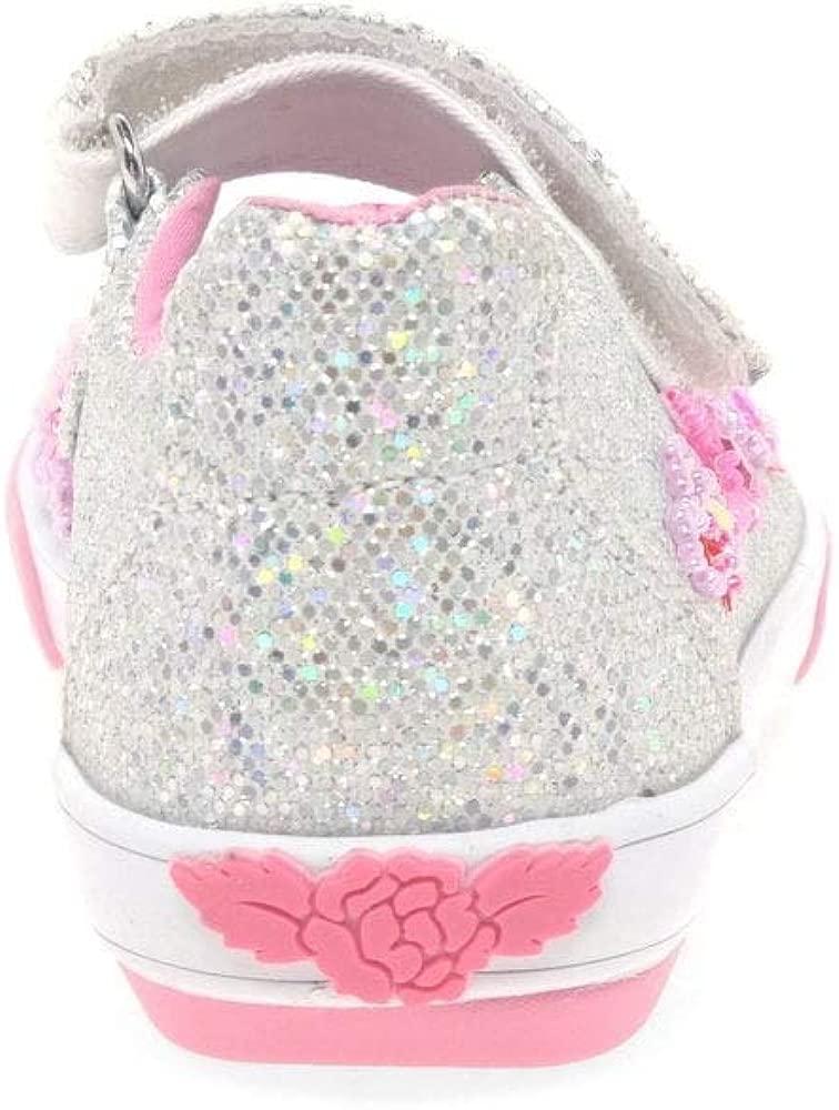 Lelli Kelly Glitter Daisy Dolly Girls Infant Canvas Shoes